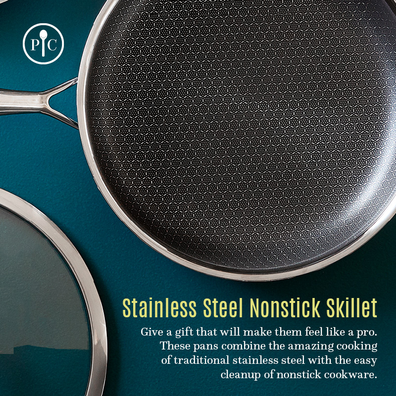 gift-idea-stainless-steel-nonstick-skillet
